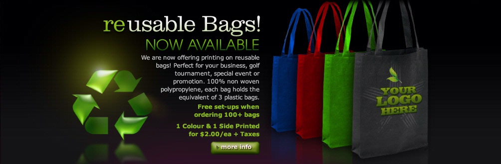 Reusable Bags - Now Available